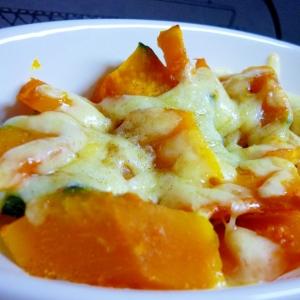 バター醤油かぼちゃのチーズ焼き~*