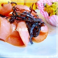 材料3つ★魚肉ソーセージの塩こんぶバター炒め