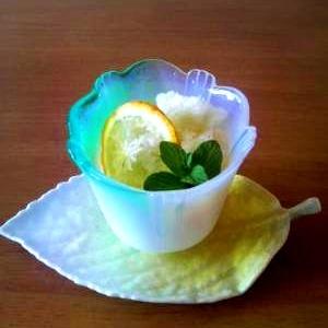 柚子を使ってさっぱりシャーベット
