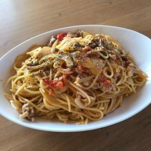 余った生クリームで☆トマトクリームスパゲティ