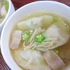 市販の水餃子 DE お手軽「スープ餃子」