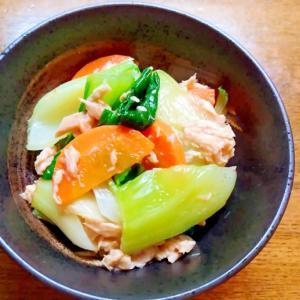 チンゲン菜とにんじんとツナの和え物