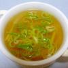 玉ねぎとえのきの和風スープ
