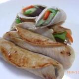 野菜のハム巻きソテー
