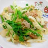 菜の花入り肉野菜炒め