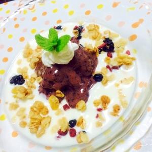 冷凍ブルーベリー&バナナのせグラノーラヨーグルト