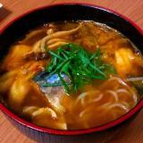 盛岡温麺アレンジ☆鯖大葉温辛麺☆岩手ご当地グルメ