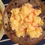 カニカマとチーズのポテサラ