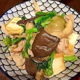 厚揚げと豚肉の搾菜炒め