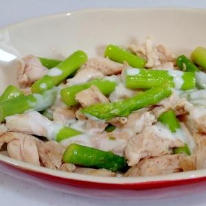 アスパラガスと鶏ササミのサラダ