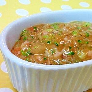 【離乳食】ツナ&れんこんのトマトソース煮