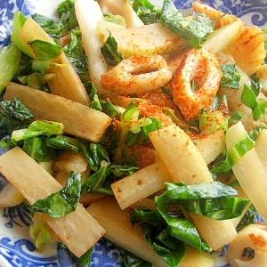 お魚食べてネ❤大根&竹輪の焼肉のタレ炒めで♪
