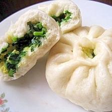 ニラとたまごの中華まん(韮菜鶏蛋包子)