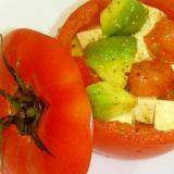 簡単節約/もっちり塩豆腐のカプレーゼ風◆ヘルシー