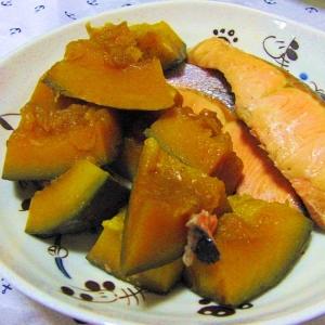 ぽん酢でさっぱり♪鮭と南瓜の煮物