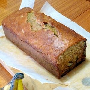 バター・量り不要☆なたね油で作る簡単バナナケーキ