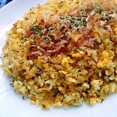 搾菜と高菜のピリ辛チャーハン