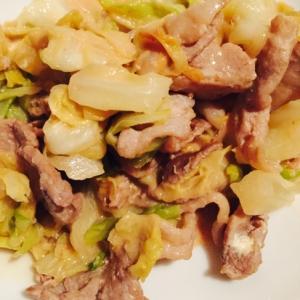 【簡単】キャベツと豚肉のマヨ炒め