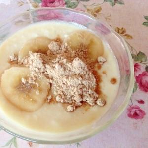 美的♡健康♡はったい粉バナナ酢ヨーグルト