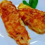 鶏ささみ肉で✿チーズとバジル風味の簡単ピカタ❤