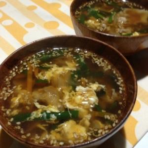 韓国風 コチジャンスープ