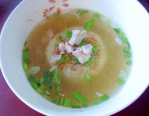 水炊きの残りで☆焼きおにぎりのスープ茶漬け