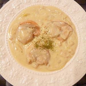 キャンベルスープで!帆立と玉ねぎの☆豆乳チャウダー