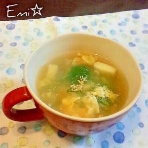 ブロッコリーとシーフードの簡単中華スープ