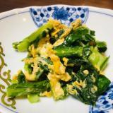 簡単☆小松菜と卵の炒め物