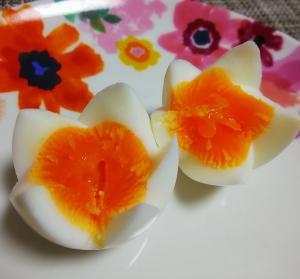 糸と楊枝で簡単!ゆで卵の切り方