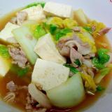 生姜が効いてる◎白菜と豆腐、豚肉の中華風うま煮