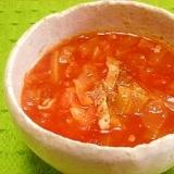 トマトジュースで☆真っ赤な野菜スープ