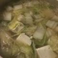 冷凍肉団で(^^)白菜と長ネギのシンプル塩麹鍋♪