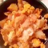 フライドポテトリメイクの卵炒め