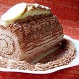 ロールケーキde簡単ブッシュドノエルもどき★
