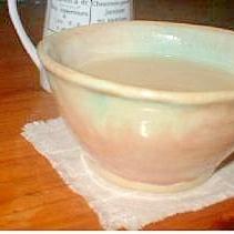 焙じ玄米茶でミルクティ