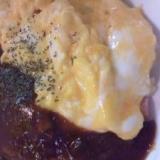 ☆ふわとろ卵のハッシュドビーフオムライス☆