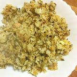 鮭と卵の辛子高菜チャーハン(醤油マヨソース味)