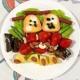 テリーヌといちごのおつまみサラダ