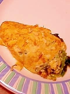 豆腐オムレツ 加熱しすぎてもふわふわ
