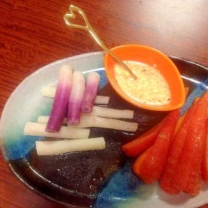 簡単 ひのなと人参の温野菜サラダ