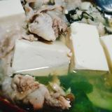 牡蠣と大根葉の鍋