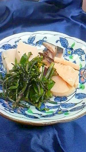 筍と菜の花の煮びたし