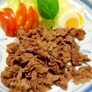 スピード料理10分で~薄切り牛肉塩炒め