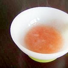 初期の離乳食 トマトがゆ