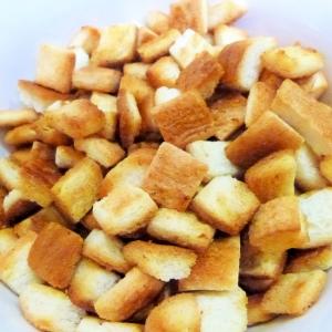 フライパンで作る パンの耳で クルトン