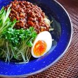 【ヘルシー!】大豆のお肉ミンチで、ジャジャ麺。