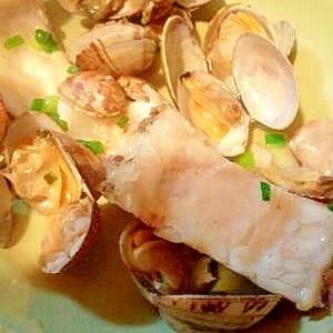 真鯛とアサリのアクアパッツァ風蒸し煮(トマトなし)