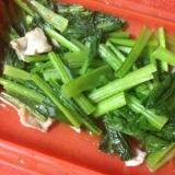 ルクエで簡単♪豚肉と小松菜の炒め物