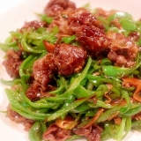 肉が細くない…柔らか美味しい肉団子チンジャオロース